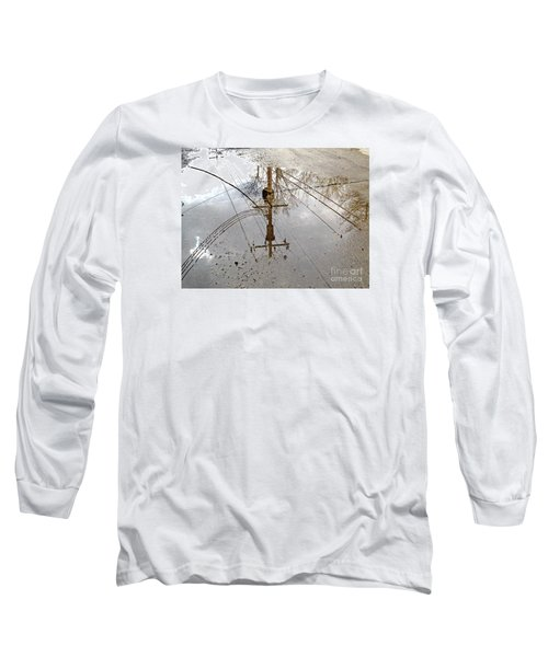 Puddle Reflections  Long Sleeve T-Shirt by Sandra Church