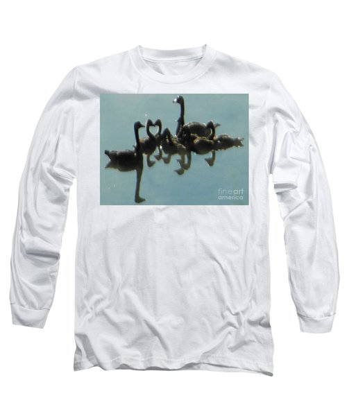 Long Sleeve T-Shirt featuring the photograph Reflection Of Geese by Rockin Docks Deluxephotos