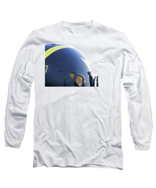 Reflection Of Goal Post In Wolverine Helmet Long Sleeve T-Shirt