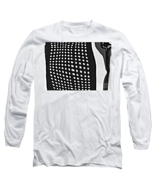 Long Sleeve T-Shirt featuring the photograph Reflection On 42nd Street 1 Grayscale by Sarah Loft