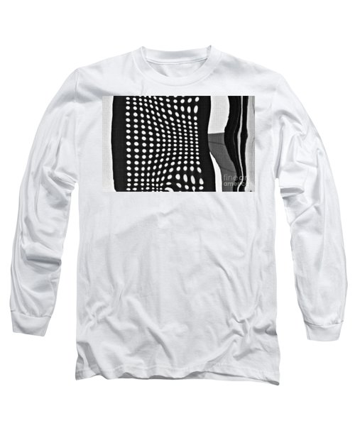 Long Sleeve T-Shirt featuring the photograph Reflection On 42nd Street 2 Grayscale by Sarah Loft