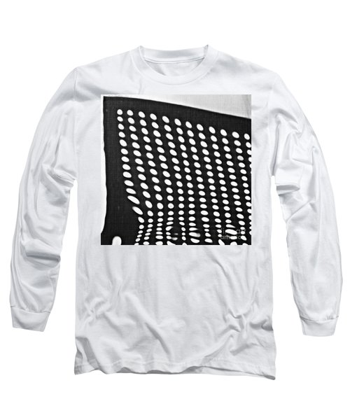 Long Sleeve T-Shirt featuring the photograph Reflection On 42nd Street 3 Grayscale by Sarah Loft