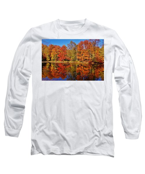 Reflections In Autumn Long Sleeve T-Shirt by Ed Sweeney