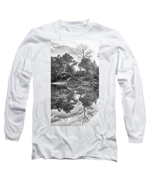 Reflections In Black And White Long Sleeve T-Shirt