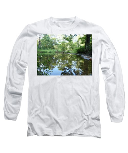 Reflections Of Beetree Run Long Sleeve T-Shirt by Donald C Morgan