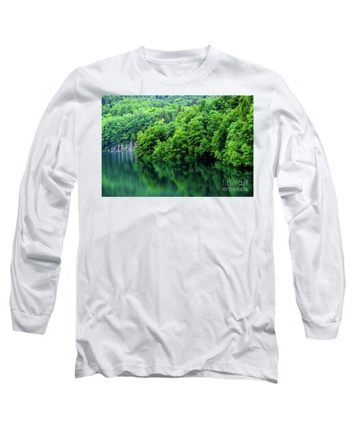 Reflections Of Plitvice, Plitvice Lakes National Park, Croatia Long Sleeve T-Shirt