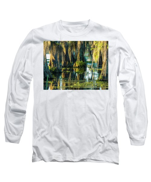 Reflections Of The Times Long Sleeve T-Shirt by Kimo Fernandez