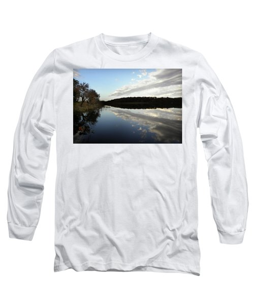 Long Sleeve T-Shirt featuring the photograph Reflections On The Lake by Chris Berry