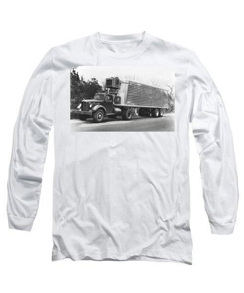 Refrigerated Semi Trailer Long Sleeve T-Shirt