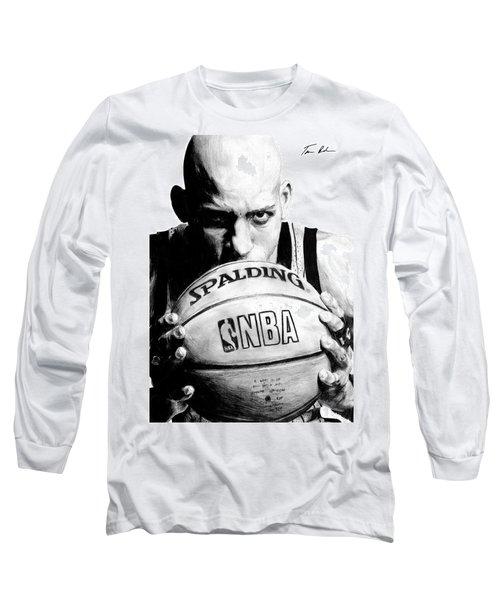 Reggie Miller Long Sleeve T-Shirt by Tamir Barkan
