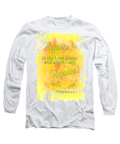 Rejoice Long Sleeve T-Shirt by Larry Bishop
