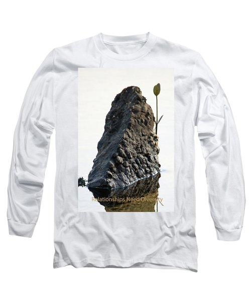 Relationships Need Diversity Long Sleeve T-Shirt by Lamarre Labadie