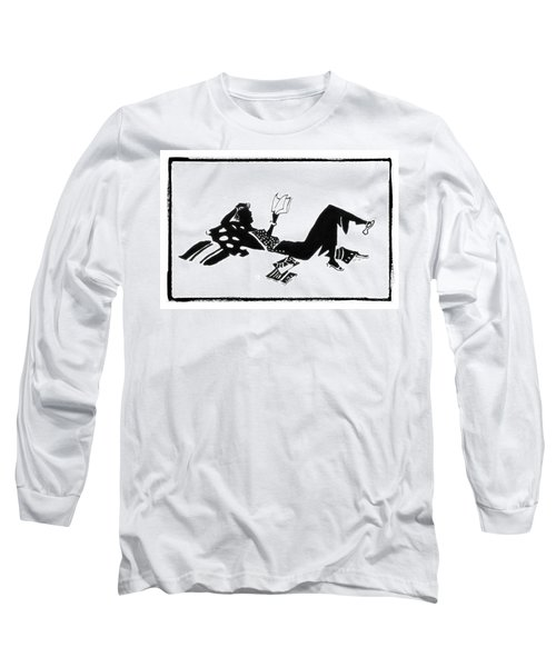 Relaxing With A Good Book Long Sleeve T-Shirt