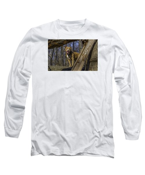 Remy In Tree Oil Paint More Pop Long Sleeve T-Shirt
