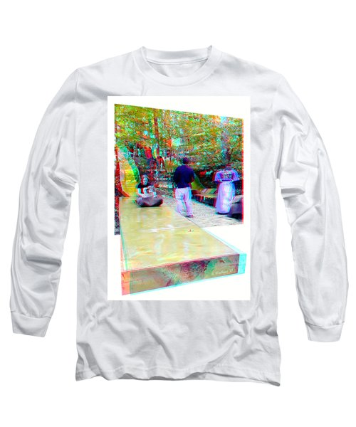 Long Sleeve T-Shirt featuring the photograph Renaissance Slide - Red-cyan 3d Glasses Required by Brian Wallace