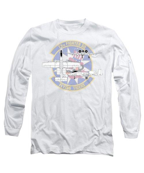 Republic A-10 Thunderbolt II Long Sleeve T-Shirt by Arthur Eggers