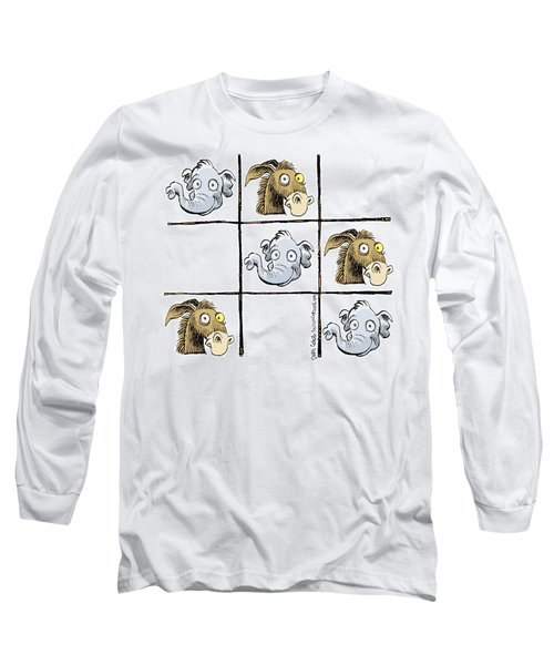 Republicans Win Tic Tac Toe Long Sleeve T-Shirt