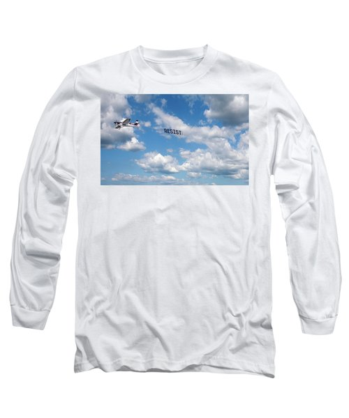 Resist Airplane Long Sleeve T-Shirt