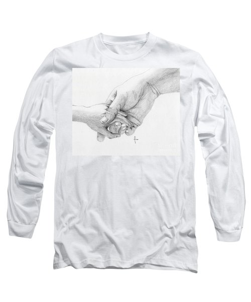 Long Sleeve T-Shirt featuring the drawing Responsibility by Annemeet Hasidi- van der Leij