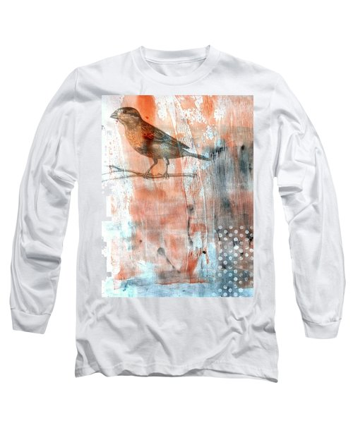 Long Sleeve T-Shirt featuring the mixed media Restful Moment by Rose Legge