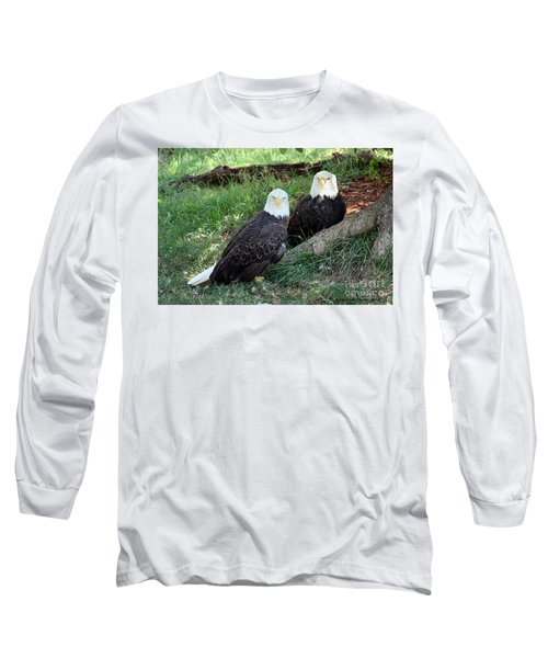 Long Sleeve T-Shirt featuring the photograph Resting Bald Eagles by Sheila Brown