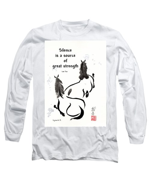Long Sleeve T-Shirt featuring the painting Retired With Lao Tzu Quote IIi by Bill Searle