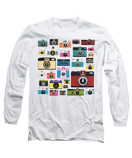 Long Sleeve T-Shirt featuring the painting Retro Camera by Setsiri Silapasuwanchai