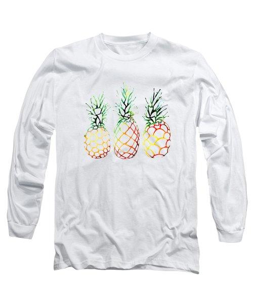 Retro Pineapples Long Sleeve T-Shirt