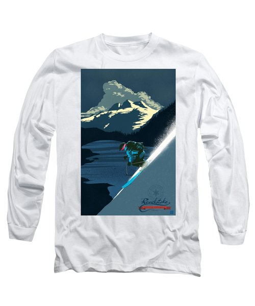 Retro Revelstoke Ski Poster Long Sleeve T-Shirt
