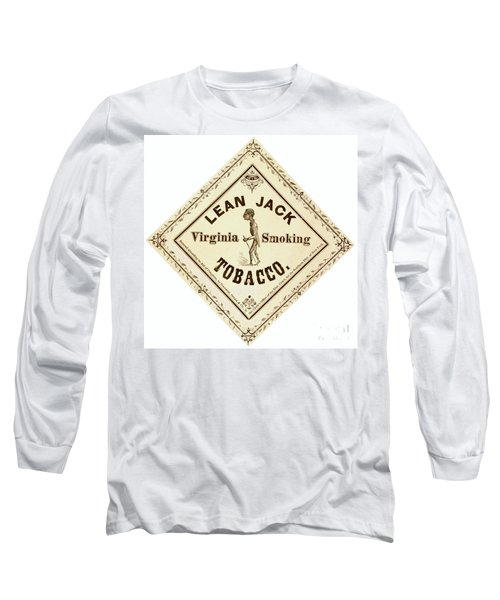 Long Sleeve T-Shirt featuring the photograph Retro Tobacco Label 1867 A by Padre Art