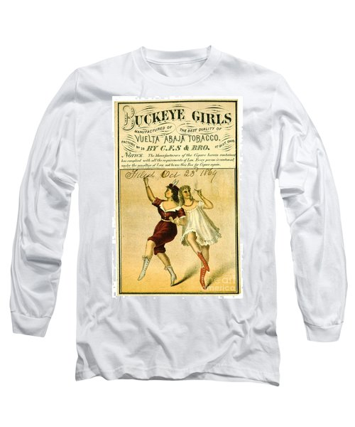 Long Sleeve T-Shirt featuring the photograph Retro Tobacco Label 1869 F by Padre Art
