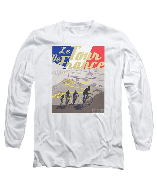 Retro Tour De France Long Sleeve T-Shirt