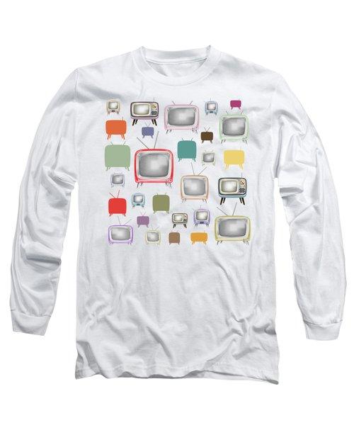 Retro T.v. Long Sleeve T-Shirt