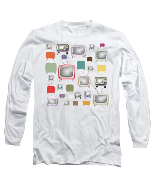 Retro T.v. Long Sleeve T-Shirt
