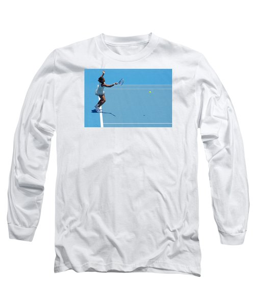 Return - Serena Williams Long Sleeve T-Shirt by Andrei SKY