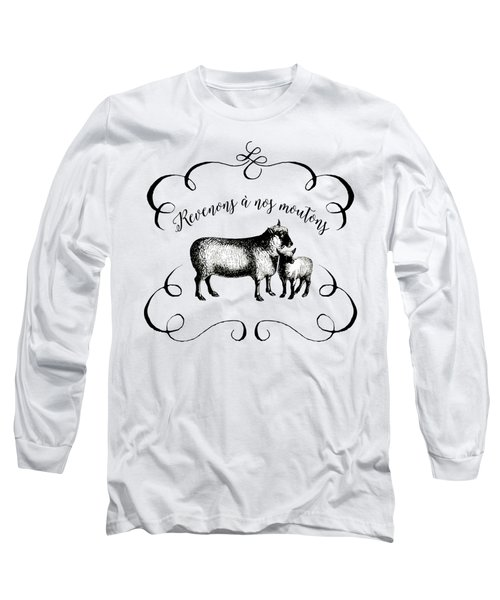 Revenons A Nos Moutons Long Sleeve T-Shirt by Antique Images