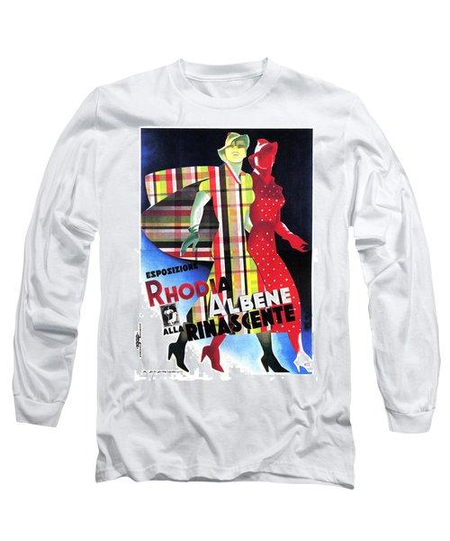 Rhodia Albene Alla Rinascente - Vintage Exposition Posture Long Sleeve T-Shirt
