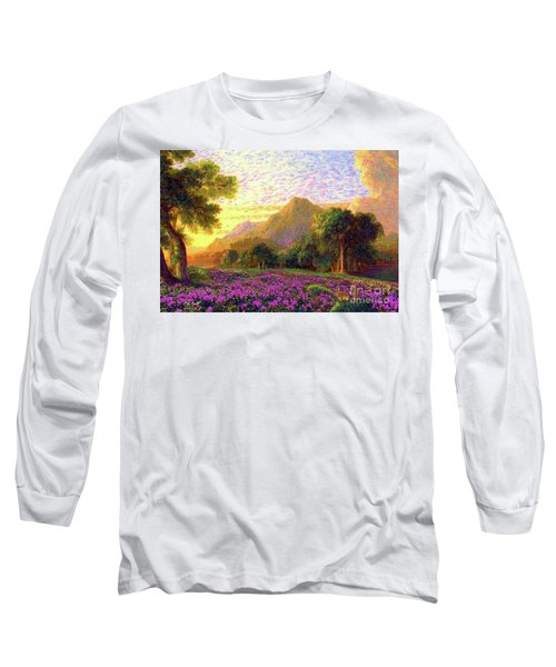 Rhododendrons, Rabbits And Radiant Memories Long Sleeve T-Shirt