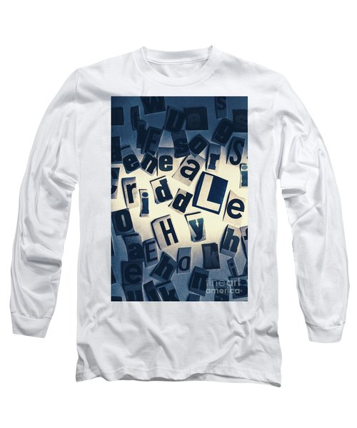 Riddles Of Contextual Scatter Long Sleeve T-Shirt