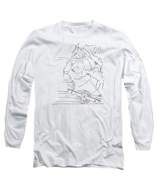 Ride One Wheel Cartoon - Never Be Late Again Long Sleeve T-Shirt