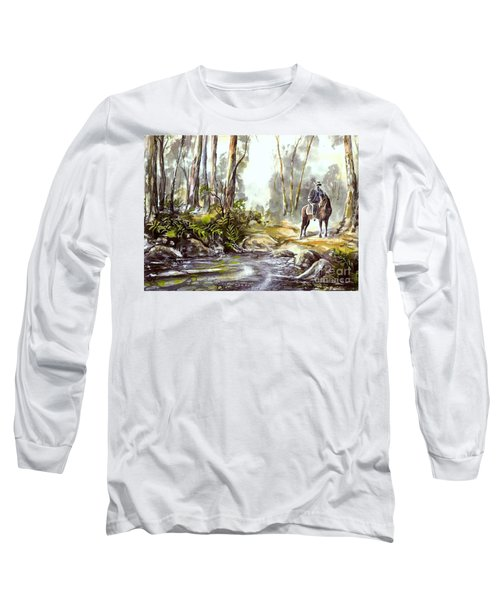 Rider By The Creek Long Sleeve T-Shirt