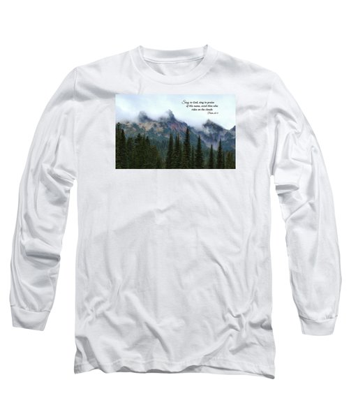 Long Sleeve T-Shirt featuring the photograph Rides On The Clouds by Lynn Hopwood