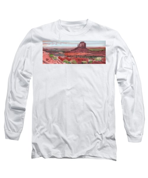 Right Mitten Panorama Long Sleeve T-Shirt by Donald Maier