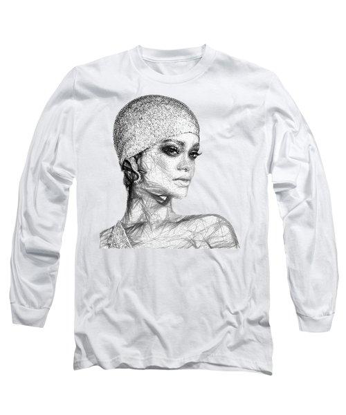 Rihanna Long Sleeve T-Shirt by Rafael Salazar