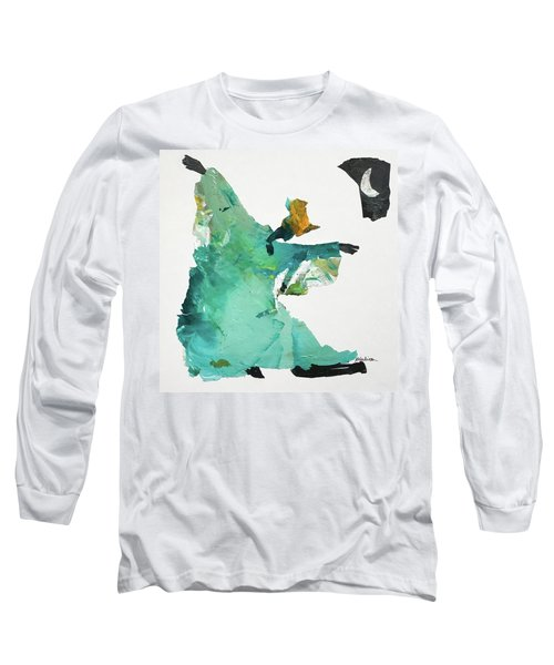 Long Sleeve T-Shirt featuring the painting Ring Shout Dancer by Mary Sullivan