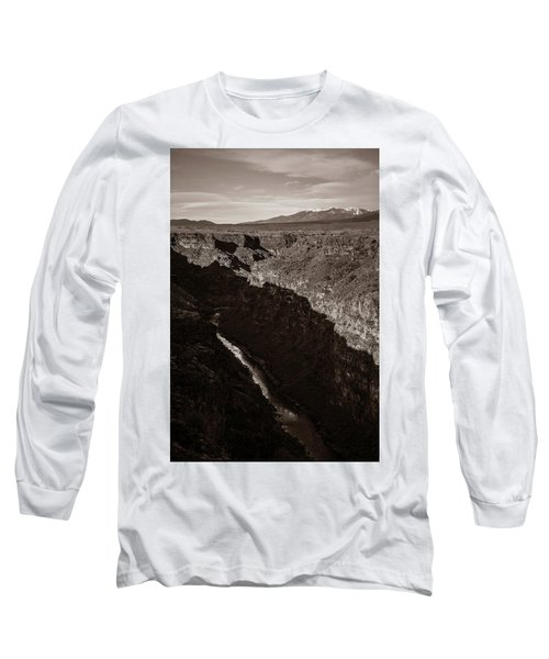 Long Sleeve T-Shirt featuring the photograph Rio Grande River Taos by Marilyn Hunt
