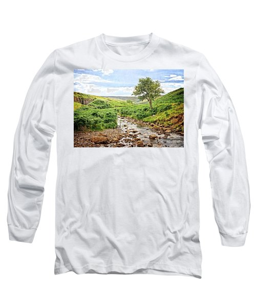 River And Stream In Weardale Long Sleeve T-Shirt