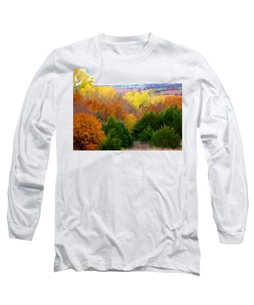 River Bottom In Autumn Long Sleeve T-Shirt