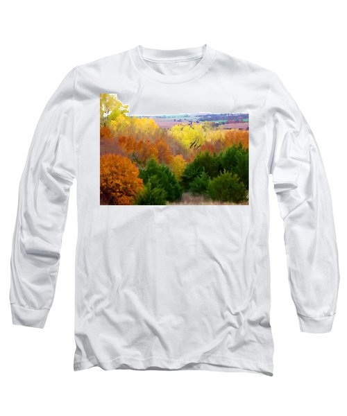 River Bottom In Autumn Long Sleeve T-Shirt
