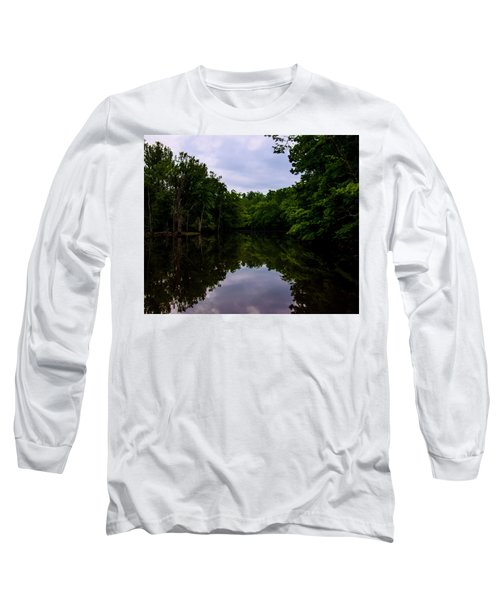 Long Sleeve T-Shirt featuring the digital art River Reflections by Chris Flees